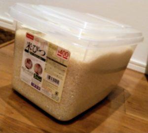 ダイソーの米びつ