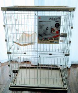 猫用ゲージ2段